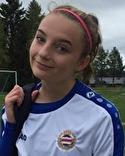 Maja Medelberg gjorde hälften av Heffnersklubban 2:s sex mål mot Sundsvalls FF.