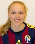 Fem mål i en och samma match. Olivia Wänglund verkar trivas som toppfowrward.