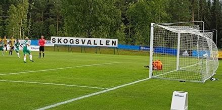 Daniel Wallsten sätter segermålt mot Friska Viljor på straff sedan han själv blvit fälld. Foto: Lars-Gunnar Nordlander.