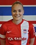 Clara Högbom gjorde sitt 21:a mål när hon gav Stöde ledningen med 1-0.