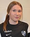 Slitvargen Johanna Lagerlund satte viktiga 1-1-målet.