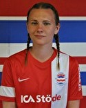 Elisabeth Dalenius var främste målskytt med ett hattrick.