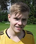 Nedansjös Andreas Sundqvist gjorde fyra mål på Holm och tog över ledningen i skytteligan.