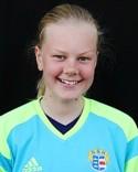 Andrea Björs svarade trots förlusten för en bra försvarsinsats.