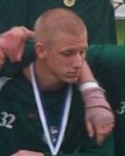 Marcus Sawerts missriktade crossboll seglade in i Söråkers mål från 40 meter.