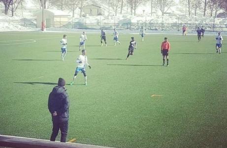 Division 2-kollegorna IFK Timrå och Ytterhogdals IK möttes i en träningsmatch på neutral mark - Glysis i Hudiksvall. IFK vann med 2-1. Bild: IFK Timrås facebooksida.