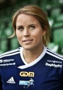 Ida Brännström (bilden) och Ericsa Höglund gjorde två mål var när Kovland slog ut IFK Timrå i DM-semifinalen.