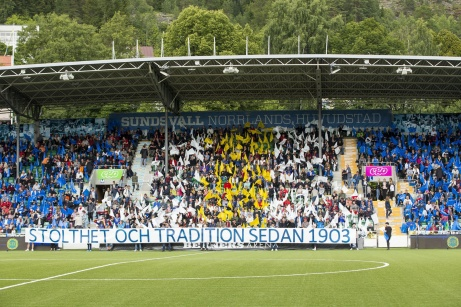 Dags för namnbyte på Idrottsparken igen. Det nya namnet blir NP3 Arena. Foto: Anders Thorsell, sundsvallsbilder.com.