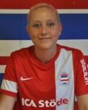 Julia Sperring tillhörde matchens bästa spelare.