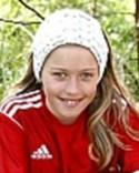 Saga Karlsson, 15, kvitterade för Alnö.