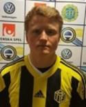 Jesper Svensson tillhörde Kubens bättre spelare i blåsten på Kramfors IP.