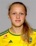 Olivia Wänglund nickade in segermålet, hennes första fullträff i Elitettan.