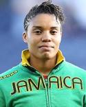 SDFF:s jamicanska målvakt Nicole McClure höll nollan uppe i Umeå.