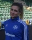 En suddig Olivia Åsberg gjorde Heffnersklubbans 2-0-mål.
