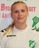 Therese Nordlund var bäst på planen med sin pondus och svarade också för hemmalagets mål i 1-1-matchen.
