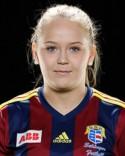 Tilda Wärulf gjorde mål för fjärde matchen irad- Tyvärr till ingen nytta denna gång.