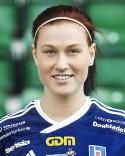 Jenny Nordenberg gjorde hälften av Kovlands mål mot Söråker men fick officiellt bara tillgodoräkna sig ett....
