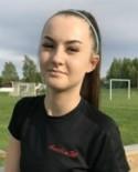 Amelia Viklund gjorde hälften av Stödes mål mot Valbo.