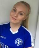 Felicia Andersson var inte sugen på att spela forward - gjorde Heffnersklubbans samtliga tre mål.