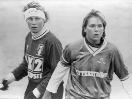 Eva Högbom var en målskytt av stora mått, gjorde 125 mål i damlaget. Foto: Bernt-Ivars hemsida.