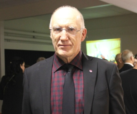 Göran Carlsson - stolt ordförande för Stöde IF. Foto: Linnéa Zätterquist.