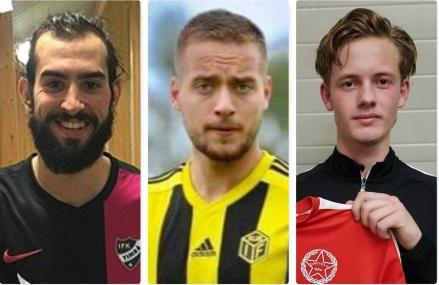 Tre nyförvärv till Svartviks IF. Ahmad Khreis. spelande tränare, Bleart Ugzmaijli och Ted Åkerlund.