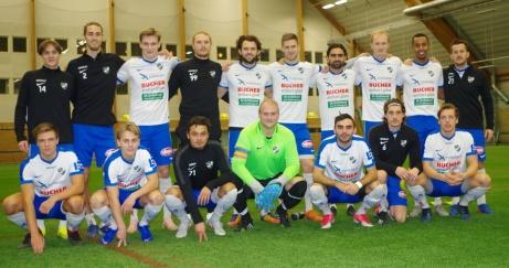 IFK Timrå var glada redan innan match. Något som man hade fog för då man vann med hela 9-1. Foto: Pia Skogman, Lokalfotbollen.nu.
