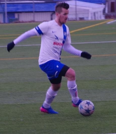 Robin Bergman i aktion. Foto: Janne Pehrsson, Lokalfotbollen.nu.