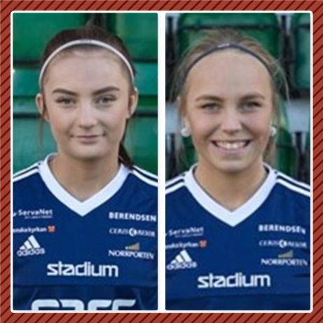Anfallsduon årgång 2002, Maja Medelberg och Felicia Lerstrand, väljer spel i division 1 och Selånger före spel i F19-serien med SDFF.