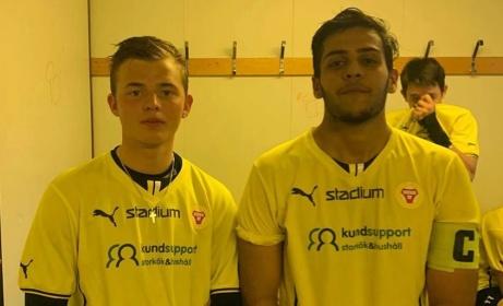 Eric Bergkvist och lagkaptenen Sajad Wafi svarade för Sund U:s fullträffar i 2-2-matchen mot Stockvik.