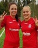 Glada Stödemålskyttar - Anna Edin och Clara Högbom.