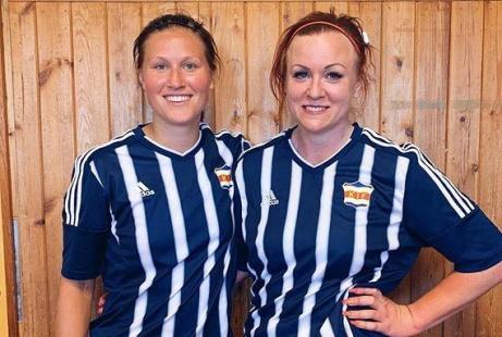Kovlands målskyttar i toppmötet med Ope, Jenny Nordenberg och Pernilla Wennman (vars nick touchade en Opeförsvarare och ansågs som självmål). Lite småaktigt...