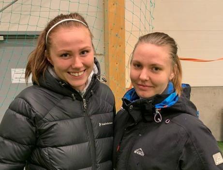 Maiin Pettersson, målvakt från Alnö, och Emma Granström, mittfältare från Söråker, är klara för IFK Timrå. Foto: IFK Timrå.