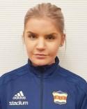 Kovlands målvakt Emelie Bergh har haft det ganska lugnt mellan stolparna i vissa matcher. Så lär det icke bli i afton...