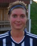 Marielle Bergman löpte många mil på sin vänsterkant i cupmatchen mot Umeå.