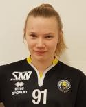 Stolt femmålsskytt. Selina gjorde hälften av Njurundas tio mål i Stöde.