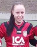 Emmy Blomgren stäbngde matchen med sitt 2-0-mål.