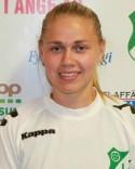 Högerfotade Annica Olsson gjorde båda sina mål med vänstern.