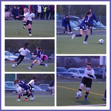 Fler bilder från matchen SDFF 2-Fränsta. Någon som har möjlighet att identifiera några av spelarna på bilderna? SDFF:spelaren på bilderna är Klaudija Asanovic och Fränstaspelaren på de två nedre bilderna till vänster är Carine Rugumaho. Foto: Pia Skogman, Lokalfotbollen.nu.