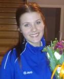 SFF:s mittback Anna Torstensson var planens gigant i blåsten.