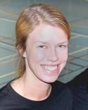 Terese Johansson var glad efteer sitt hattrick.