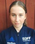 Sara Heimer satte 2-1-målet för SDFF 2 men Team Hudik vände i andra halvlek.