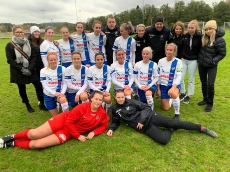IFK Timrås damer som avslutade serien med en 2-0-seger mot Selånger 2.