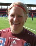 Östersunds veteran mellan stolparna, Heike Lippertz, var omutlig och rädda t o m en straff i den 88:e minuten.