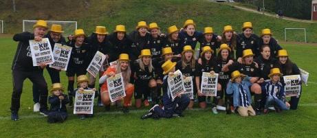 Kovlands damer som tog hem seriesegern i division 2 Mellersta Norrland 2019. Klubbens fjärde raka serieseger kom efter 18 matcher, 18 segrar och mäktiga 111-6 i målskillnad.