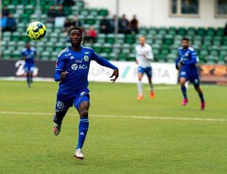 GIF Sundsvalls Peter Wilson var framåt mot IFK Norrköping. Ett mål, ett assist och på sluet ett jätteläge att sätta 5-4. Foto: GIF Sundsvall.