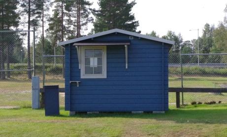 Blå kiosken. Foto: Pia Skogman, Lokalfotbollen.nu.