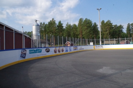 Ytterligare en bild på hockeyrinken.