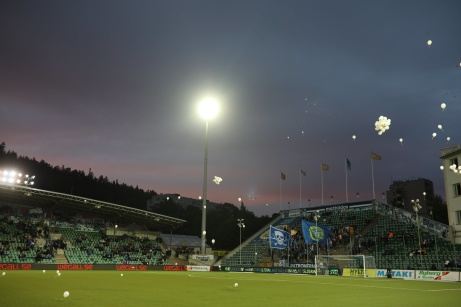 """Tyvärr fick inte de 4 950 åskådarna på NP3 Arena se några mål i """"nattmatchen"""" mellan GIF Sundsvall och AFC Eskilstuna. Foto: Anders Thorsell, Sundsvallsbilder.com."""