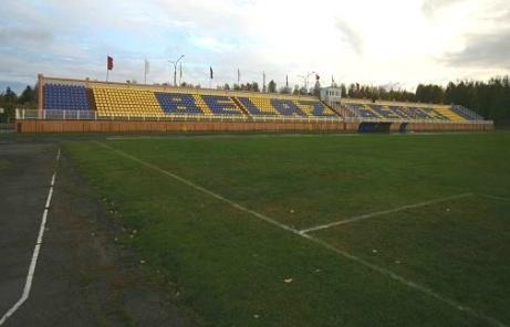 Dennis Olssons nya hemmaplan Tarpeda Stadyen i stadem Zhodino som ligger ett par mil utanför huvudstaden Minsk.